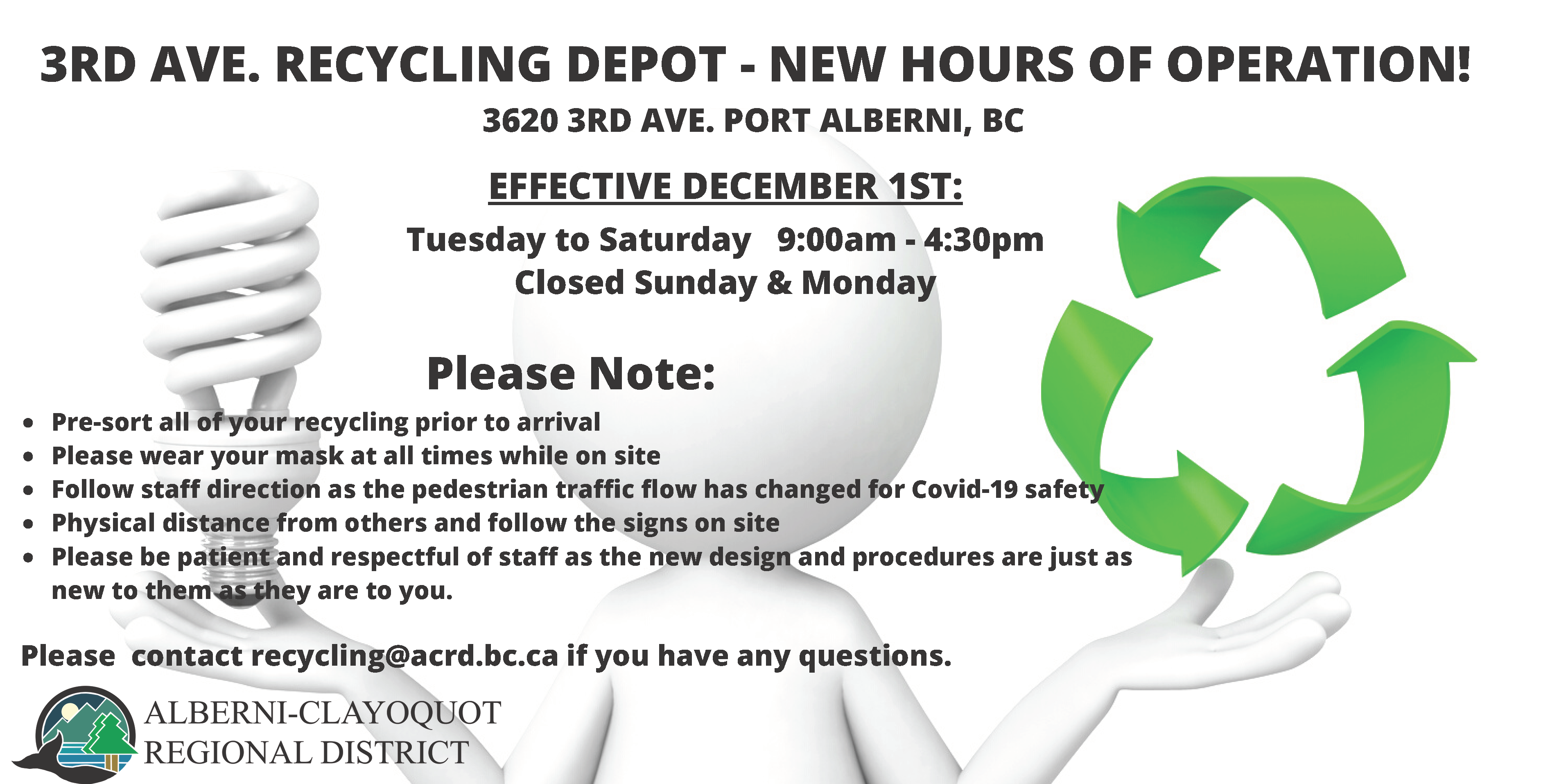 3rd Ave Recycling Hours Dec 2020